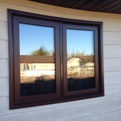 Exterior Brown Window - After