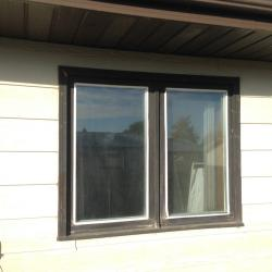 Exterior Brown Window - Before
